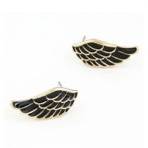 Trensetting Punk Style Contrast Color Angle's Wings Stud Earrings