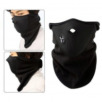 Neoprene Fleece Half Face Nose Neck Ski Snowboard Bike Motorcycle Mask Warm + niceEshop Cable Tie