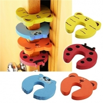 Door Stop Finger Pinch Guard , Mixed Color [4pc-pack]