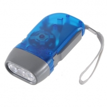LED Hand Press No Battery Wind up Crank Camping Outdoor