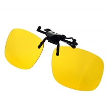Yellow Night Vision Retro Polarized Clip-on Flip-up AVIATOR Plastic   Sunglasses Driving Traveling