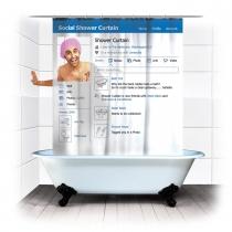 Creative Social Shower Curtain