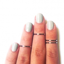 Street-chic Fashion Above The Knuckle Thin Mid Finger Tip Ring