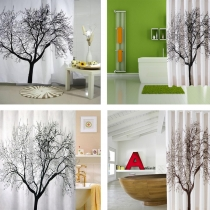 Waterproof Bathroom Fabric Shower Curtain