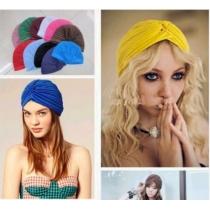 vogue Indian Satin Bonnet Stretchable Turban Hat Hair Head Wrap Cap   Headwrap