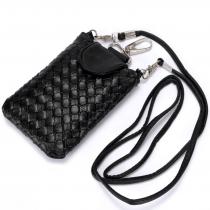 Best Fashion Mini Wallet Purse Shoulder Bag Woven Coin Cell Phone Case Mobile Pouch