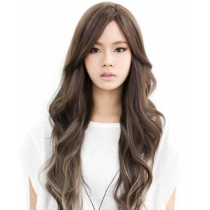 Western Women's Charming Long Curly Wig (light brown)