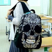 Punk Style Unisex Skull Head Print Backpack Bag