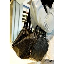 Black Metallic Studded Hobo Tote Handbag Shoulder Bag Backpack