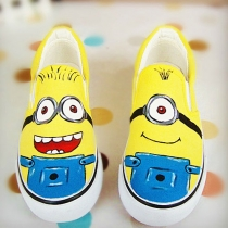 Despicable Me Yellow Minion Paint Slip On Sneaker Loafers