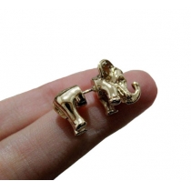 Punk Style Cute 3D Elephant Studs Earrings