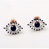 Fashion Cute Rhinestones Dazzling Eye-shape Earrings