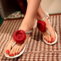Unique Flower Flat Sandals