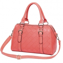 Sweet Candy Color Diamond Check Handbag Shoulder Bag