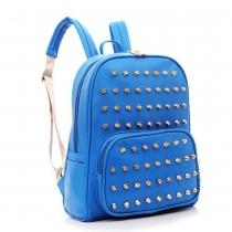 Cool Punk Style Solid Color Rivet Backpack Bag