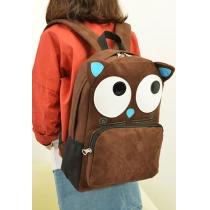 Cute Cartoon Monster Backpack School Book Shoulder Bag