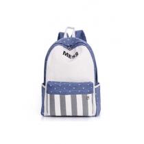 Leisure MESS Star Stripe Print Backpack Schoolbag