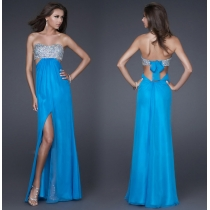 Attractive Sexy Halter elegant shiny Sequins Prom Dress