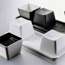 Chic Creative Gift Keyboard Ctrl Alt Del Print 1 Set/3pcs Cups with Plate
