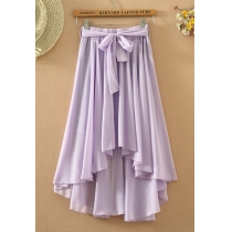 Boho Multiple Color Skirt Asymmetric Stretch Beach Skirt