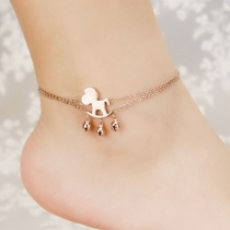Gold Tone Horse Pendant Anklets Foot Chain Bracelet Gift