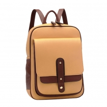 Retro Leisure Contrast Color Cross Backpack Bag