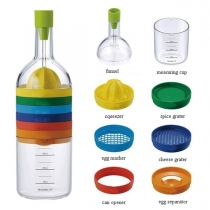 8 in 1 Plastic Bin Bottle Essential Kitchen Tools 420ml Measuring cup