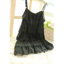 Sweet Girl Tiered Camisole Slip Dress Lace Sundress
