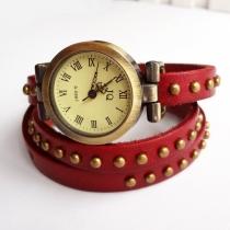Vintage Rivet  Leather Watch