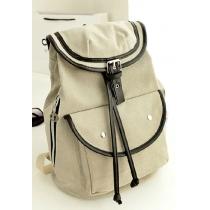 Casual Blue Buckle Flap School Bag Backpack Rucksack