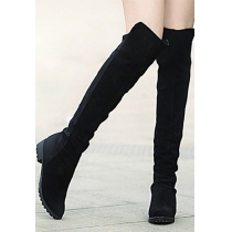 Retro Roman Elegant Gorgeous Pure Color Over-the-knee Boots
