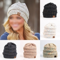 Fashion Mixed Color Knit Beanies