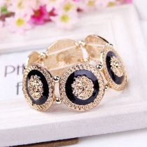 Fashion Golden Lion's Head Alloy Bracelet