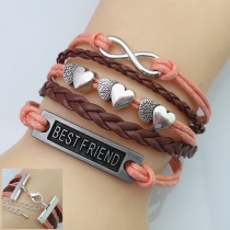 Fashion Hearts Multi-layer Friendship Bracelet