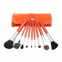Professional Cosmetic 9pcs Makeup Cosmetic Brushes Set with Pouch
