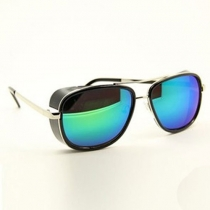 Men Women Color Mirror Lenses Aviator Sunglasses Shades