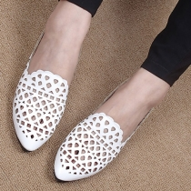 Fashion Hollow Out Pointed Toe Flat Shoes