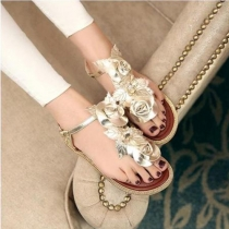 Fashion Flower Flat Thong Sandal