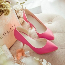 Fashion Side Hollow Out Pointed Toe Stiletto Shoes