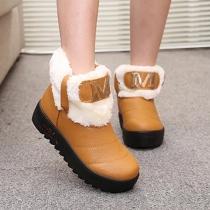 Fashion Round Toe Flat Heel Anti-slip Warm Snow Boots