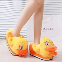 Cute Cartoon-shaped Warm Cotton Slippers for Lovers