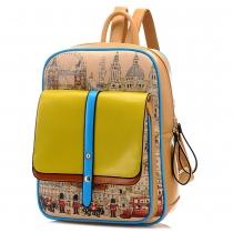 College Style Graffiti Backpack School Bag