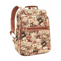 Cartoon Bear Print Backpack Travelling Bag