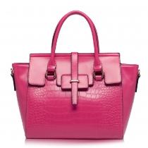 Fashion Crocodile Grain Solid Color Handbag Shoulder Bag