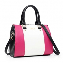 Fashion Contrast Color Handbag Shoulder Messenger Bag