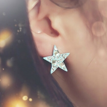 Daze Rhinestone Blue Star Stud Earring