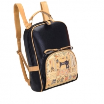 Country Style Cute Retro Sewing Machine Print Backpack