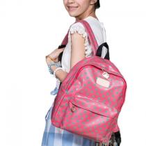 Cute Simple Elegant Polka-dot Backpack
