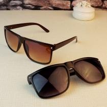 3 Colors Retro Rivet Square Frame Anti-UV Unisex Sunglasses