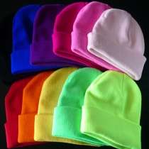 Fashion Solid Color Unisex Hip-Hop Knitted Cap Beanie
